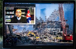 Minister James Cleverly at UNSC briefing on threats to international peace and security caused by terrorist acts: International cooperation in combating terrorism 20 years after the adoption of resolution 1373 (2001). (UN Photo)