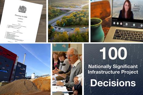 100 NSIP decisions