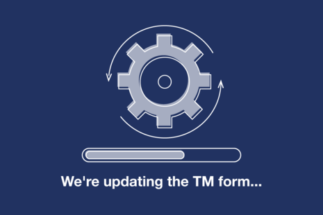 We are updating the TM form in progress
