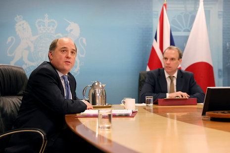 Defence Secretary Ben Wallace and Foreign Secretary Dominic Raab