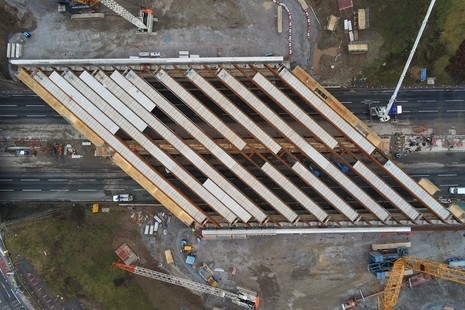 bridge beams for the M6 junction 19 projec