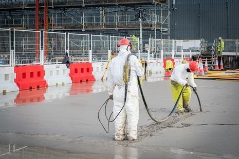 SRP last concrete pour