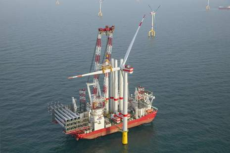 Construction of an offshore wind farm