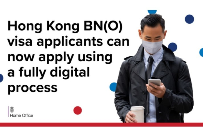 Hong Kong BN(O) visa applicants can now apply using a fully digital process