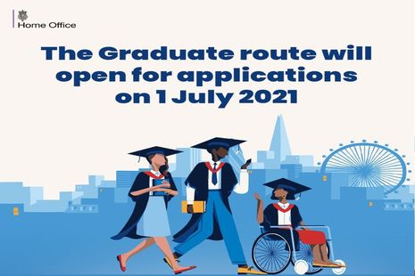 Graduate route to open to international students on 1 July 2021