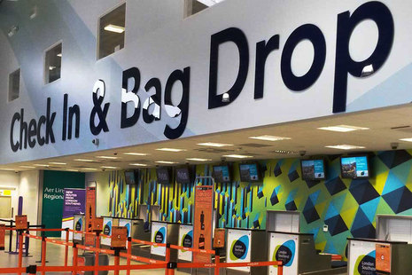 Check-in and bag drop at London Southend Airport