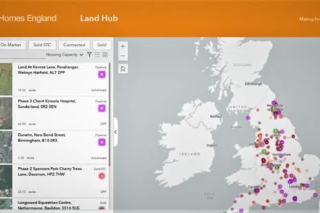 Homes England Land Hub