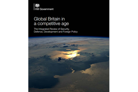 Front cover of the Global Strategic Integrated Review policy paper.