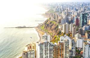 Coastline of Lima
