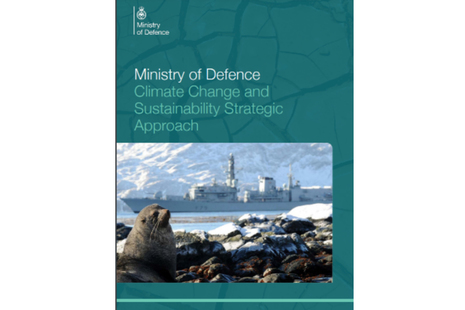Front image of the Ministry of Defence Climate Change and Sustainability Strategic Approach.