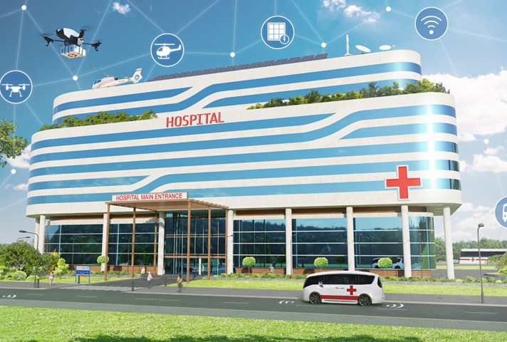 Artist's impression of a space-age hospital. Credit: ESA