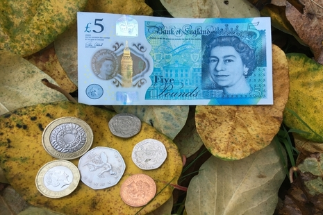 Image of £8.91 in cash.