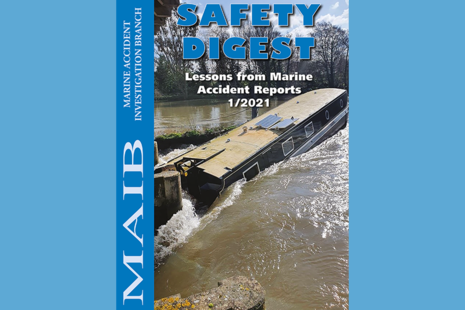 Front cover of MAIB Safety Digest 1/2021
