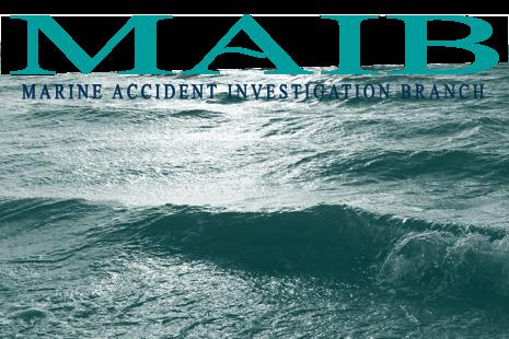 MAIB logo with seascape