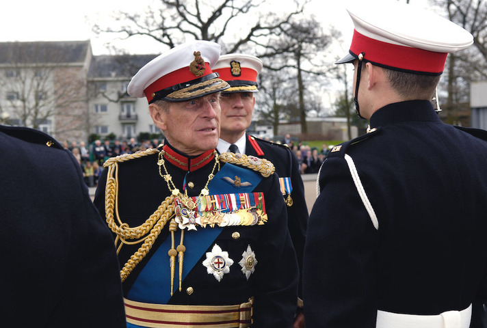 HRH Prince Phillip, the Duke of Edinburgh was attending the 970 Kings Squad Passing Out parade