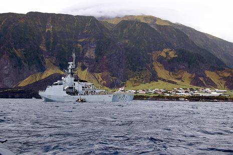 HMS Forth sails to Tristan da Cunha