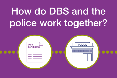 Decorative image that reads 'How do DBS and the police work together?'