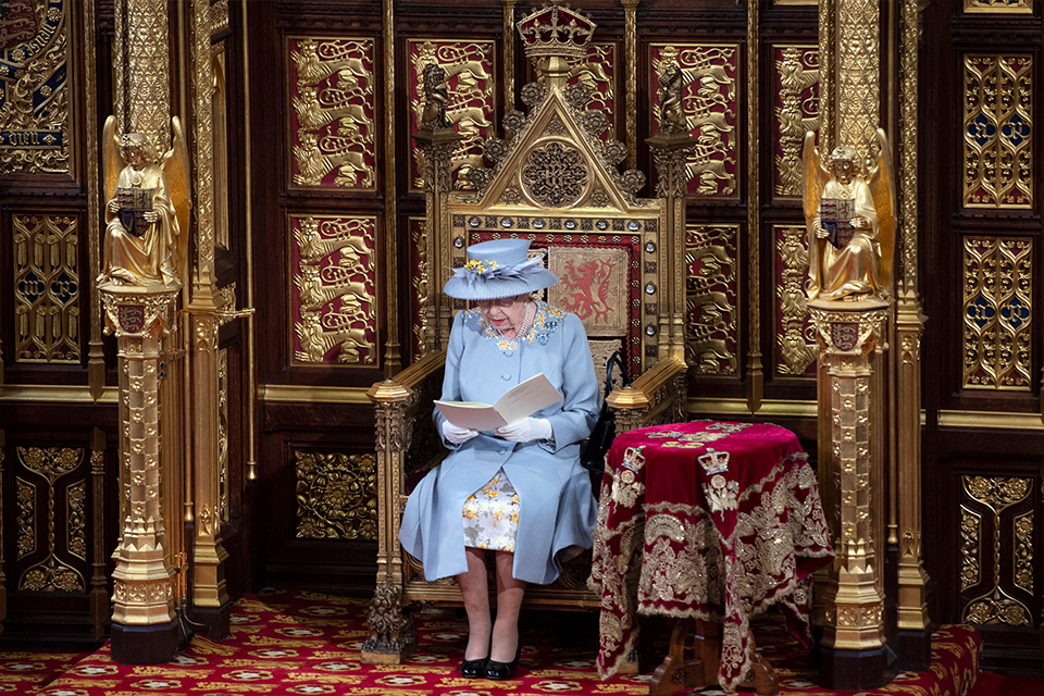 Her Majesty The Queen in the House of Lords