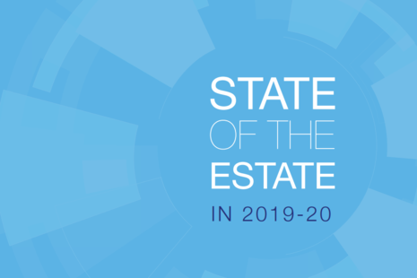 Blue quote card reading 'State of the Estate'