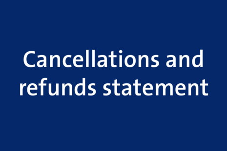 cancellations and refunds statement