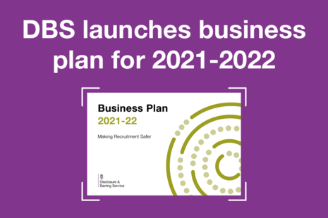 Decorative graphic that reads 'DBS launches business plan for 2021-2022'.