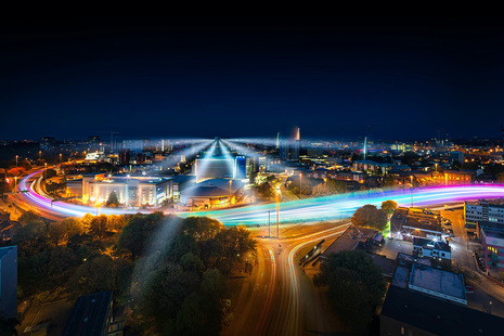Coventry at night