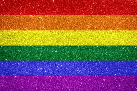 Pride glitter rainbow flag