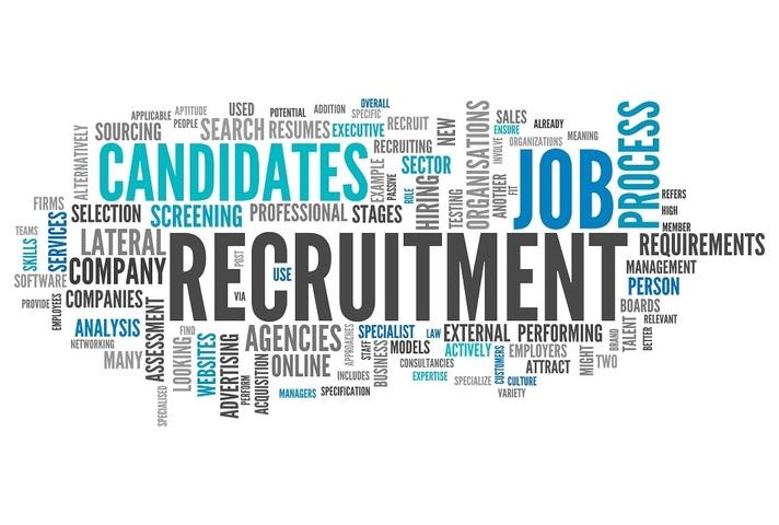 Recruitment word cloud