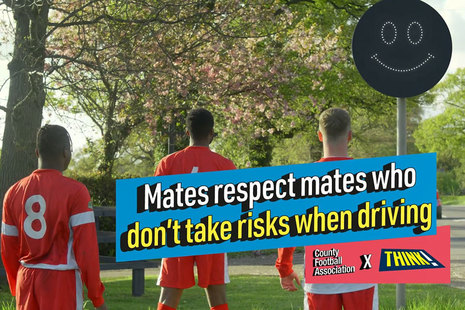 Mates respect mates who don't take risks when driving.