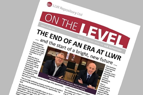 Front cover of On The Level Newsletter