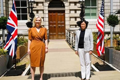 Liz Truss and Katherine Tai