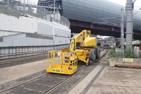 The mobile elevated work platform involved in the incident.