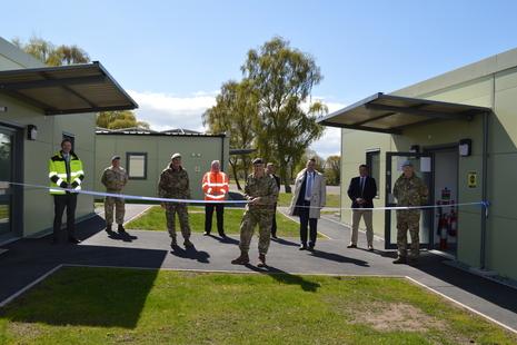 Lt Gen Richard Nugee officially opens the buildings