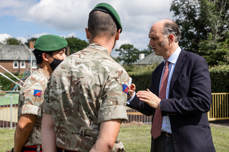 Minister for Defence People and Veterans meeting with service personnel