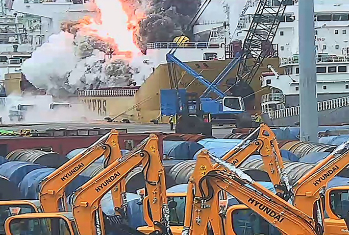 Vapour ignition on board Stolt Groenland