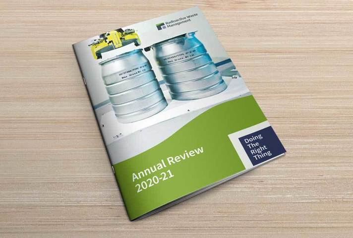 Annual Review 2020-21 on desk