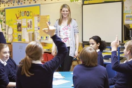 literacy teacher in classroom