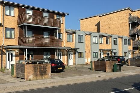 Modern terraced housing in south London