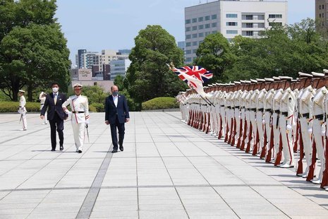 The Defence Secretary in Japan