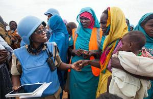 UN Peacekeeper in Darfur (UN Photo)