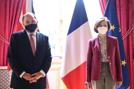 Ben Wallace and Florence Parly met in Paris to discuss the UK-France defence partnership