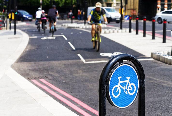 Cycle lane.