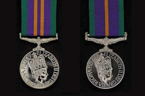 Accumulated Campaign Service Medal 2011 - left, 1994 - right
