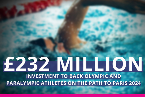 Headline for £232 million Olympic and Paralympic investment
