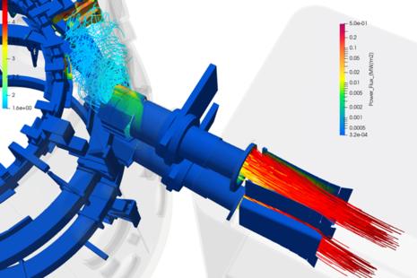 Computer simulation of UKAEA's MAST Upgrade fusion experiment