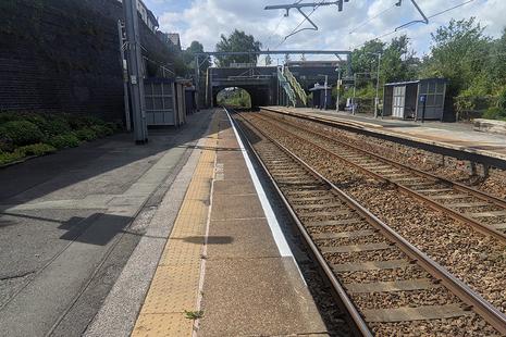 Eccles station platform and track
