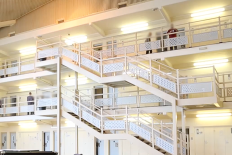 Interior image of prison