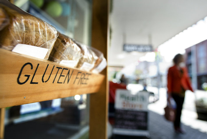 Bread with gluten free label