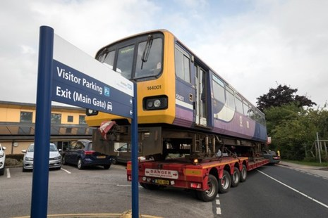 Pacer train delivery to Airedale Hospital.