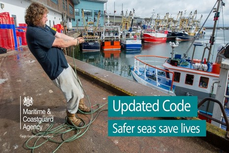 Man holding rope attached to fishing vessel